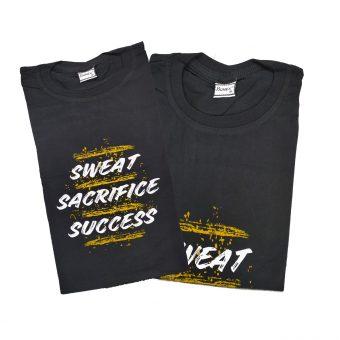 SWEAT SACRIFICE SUCCESS 100% Premium cotton Motivational Gym T-Shirt