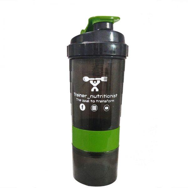 Trainer_Nutrionist Spider Gym Protein Shaker Bottle Green