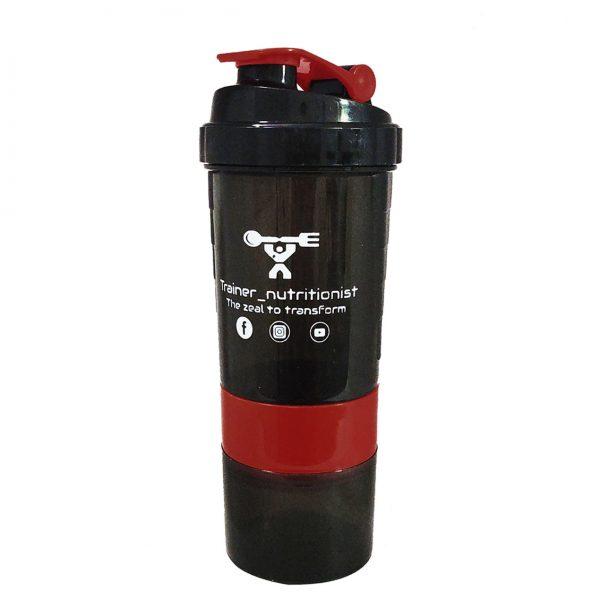 Trainer_Nutrionist Spider Gym Protein Shaker Bottle Red